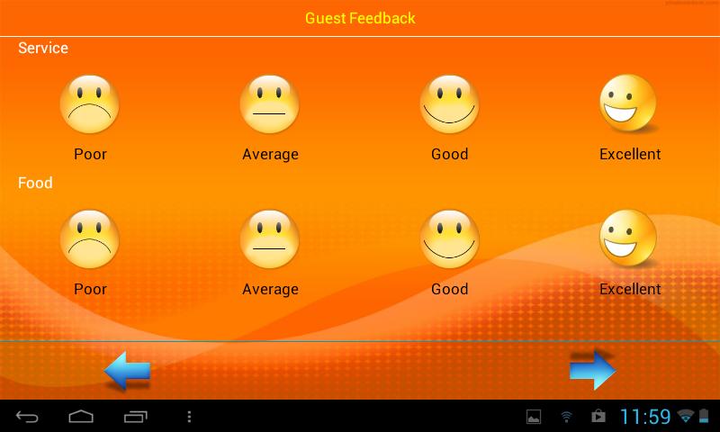 Feeback app for Hotels & Restaurants